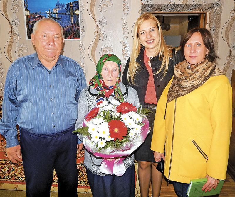 100-летний юбилей отметила седьмая долгожительница Витебской области