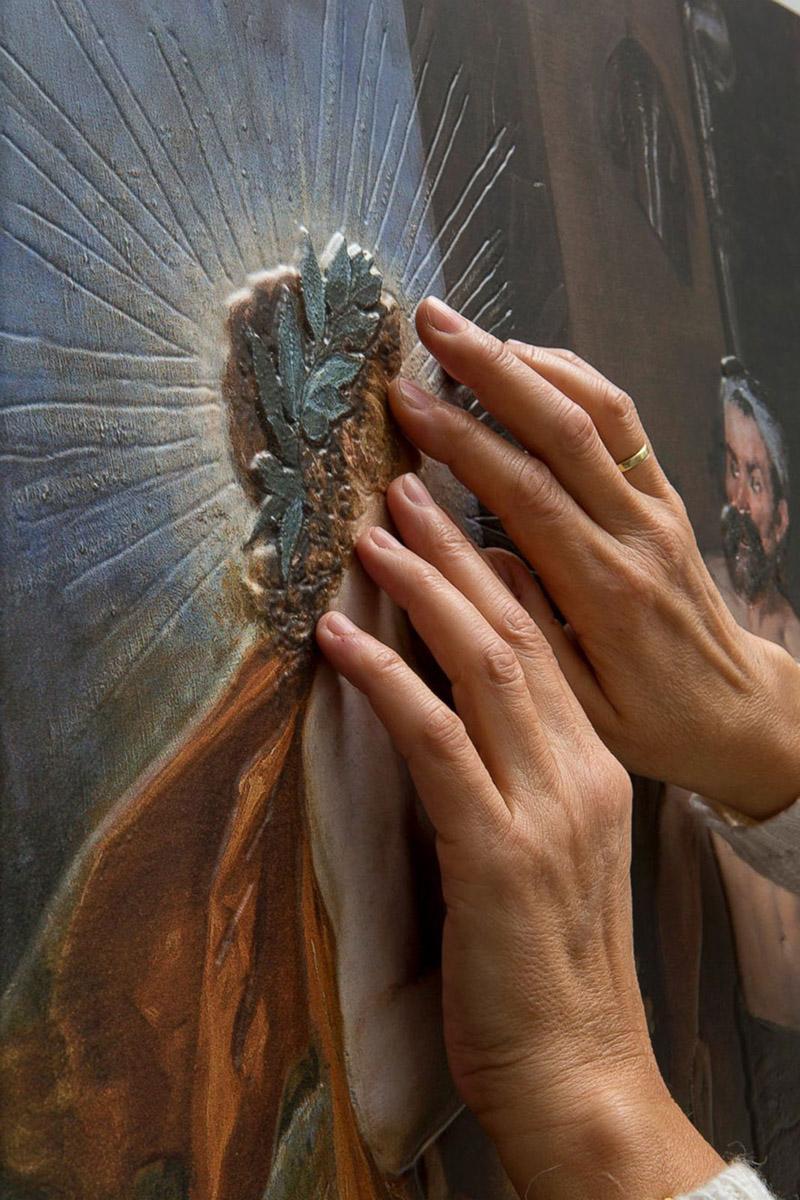 Почувствовать, чтобы увидеть. Как незрячие исследуют картины Хруцкого и Бялыницкого-Бирули