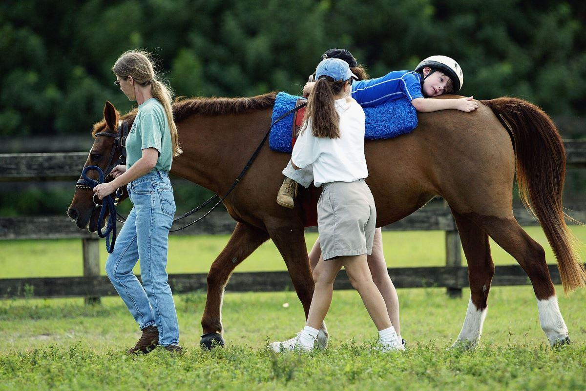 how hippotherapy is helping improve individuals with According to the american hippotherapy association, inc, hippotherapy is a physical, occupational and speech therapy treatment strategy that utilizes equine movement in the hippotherapy environment, a therapist uses the horse's movement to provide carefully graded sensory input.