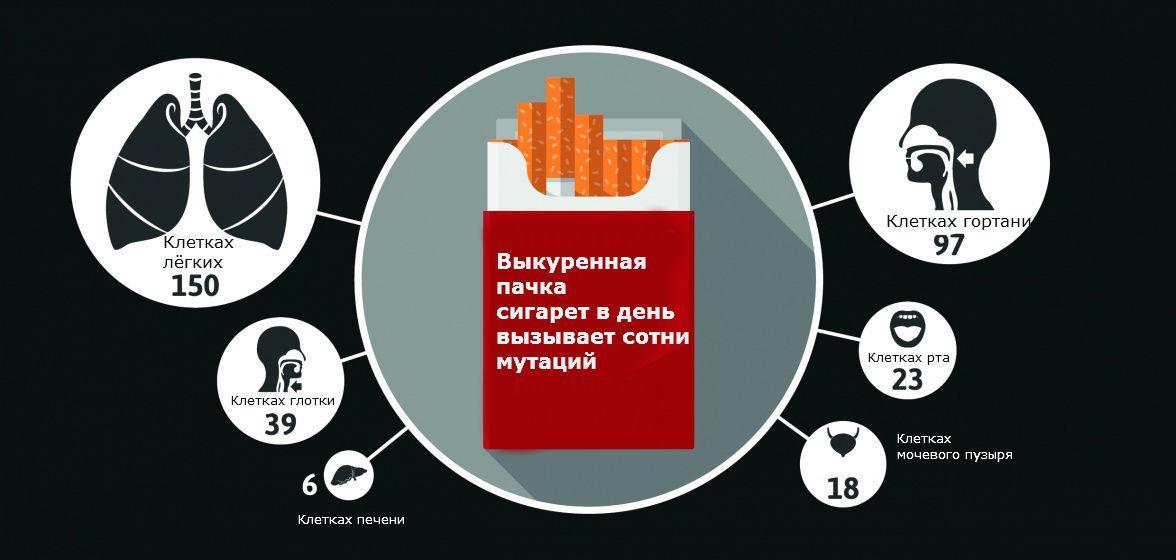одна раковая мутация на каждые 50 сигарет