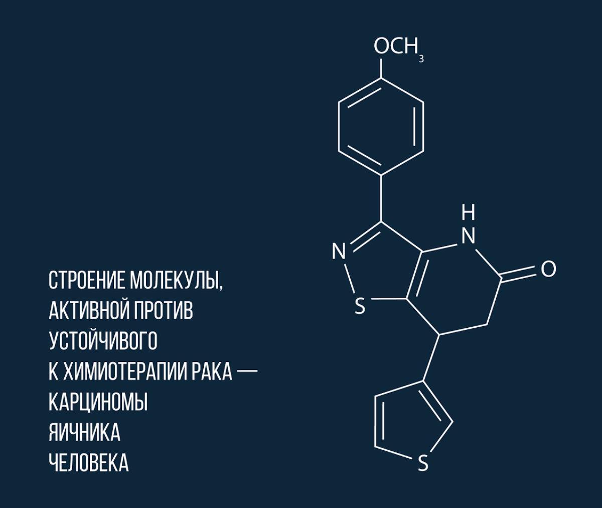 российские химики синтезировали молекулу, которая поборется с устойчивым к химиотерапии раком
