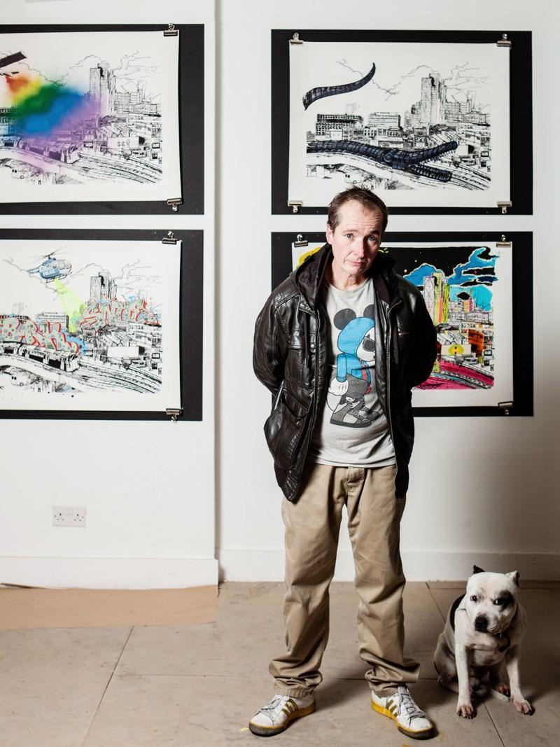 John Dolan 1 - История о том, как бездомный завел собаку – и стал знаменитым художником