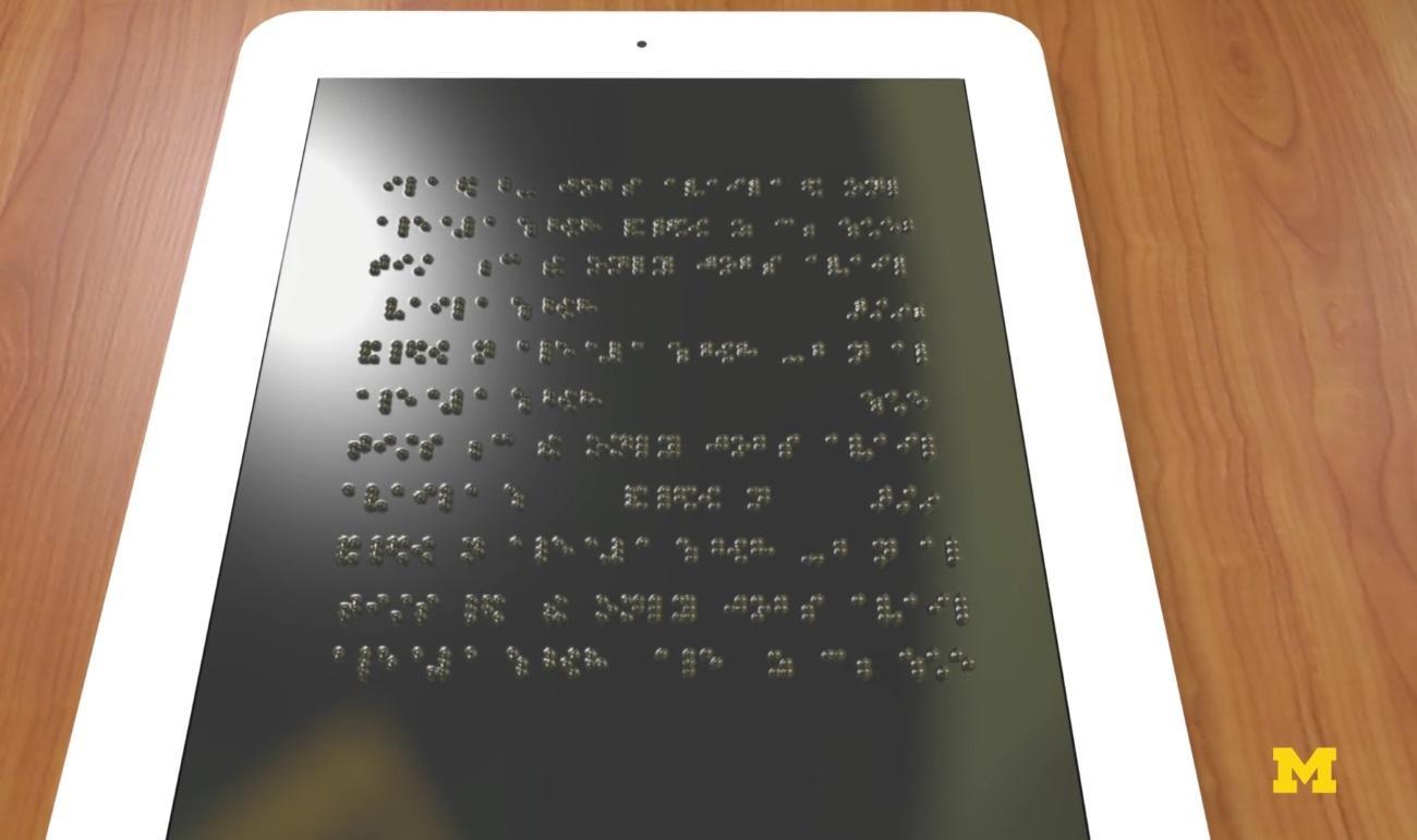 Американские учёные создают планшет для слепых