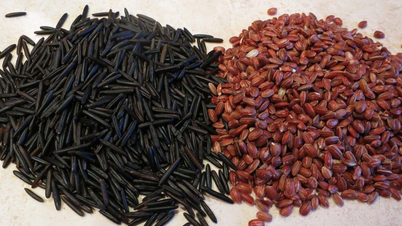 Дикий рис и гималайский красный рис