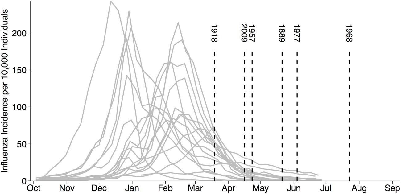 Сезонный грипп оказался защитником от пандемий