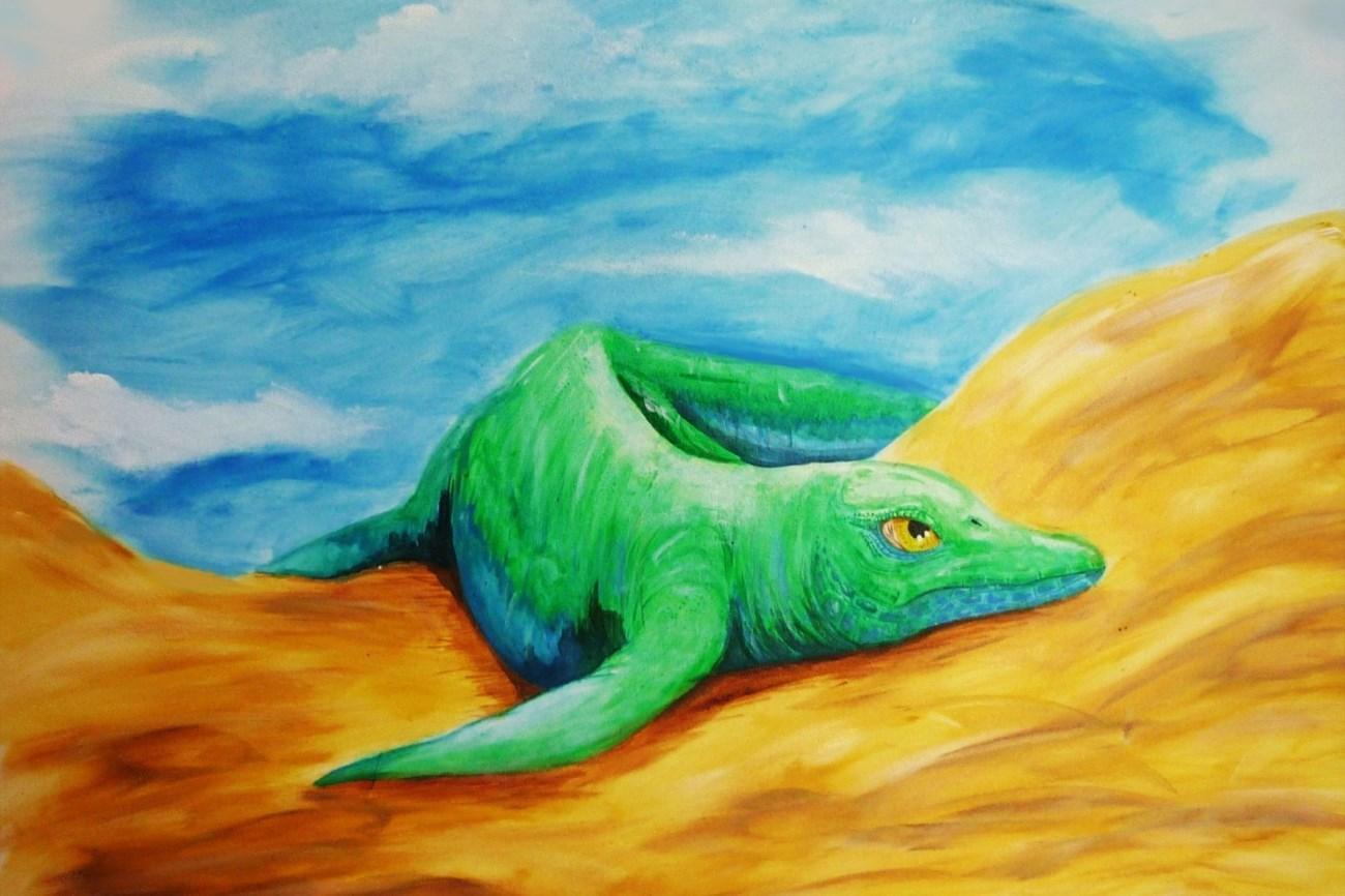 найдены останки первого земноводного ихтиозавра