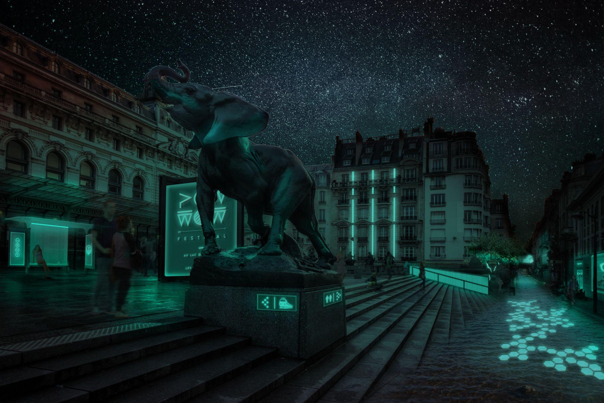 Мерцающие в темноте «бактериальные» фонари осветят витрины магазинов
