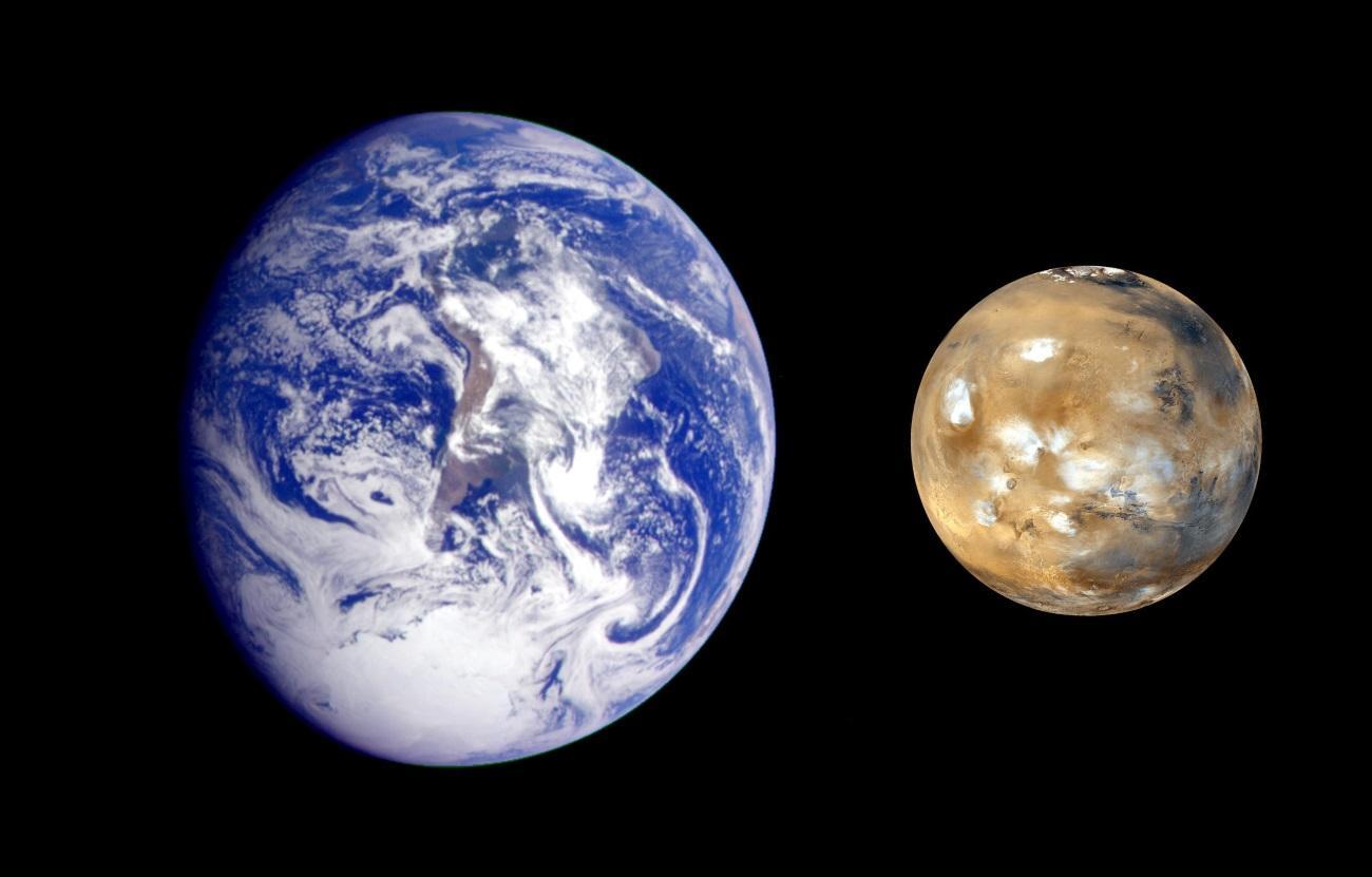 ученые связали наличие метана на Марсе с появлением биомолекул на Земле