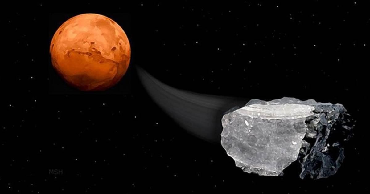 в марсианских метеоритах нашли метан