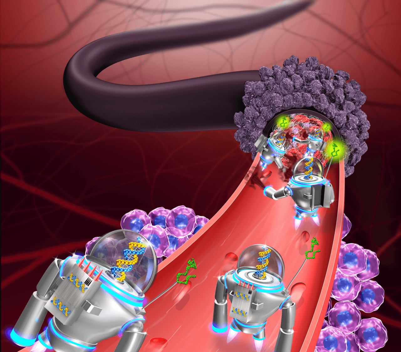 ДНК-роботы морят рак голодом