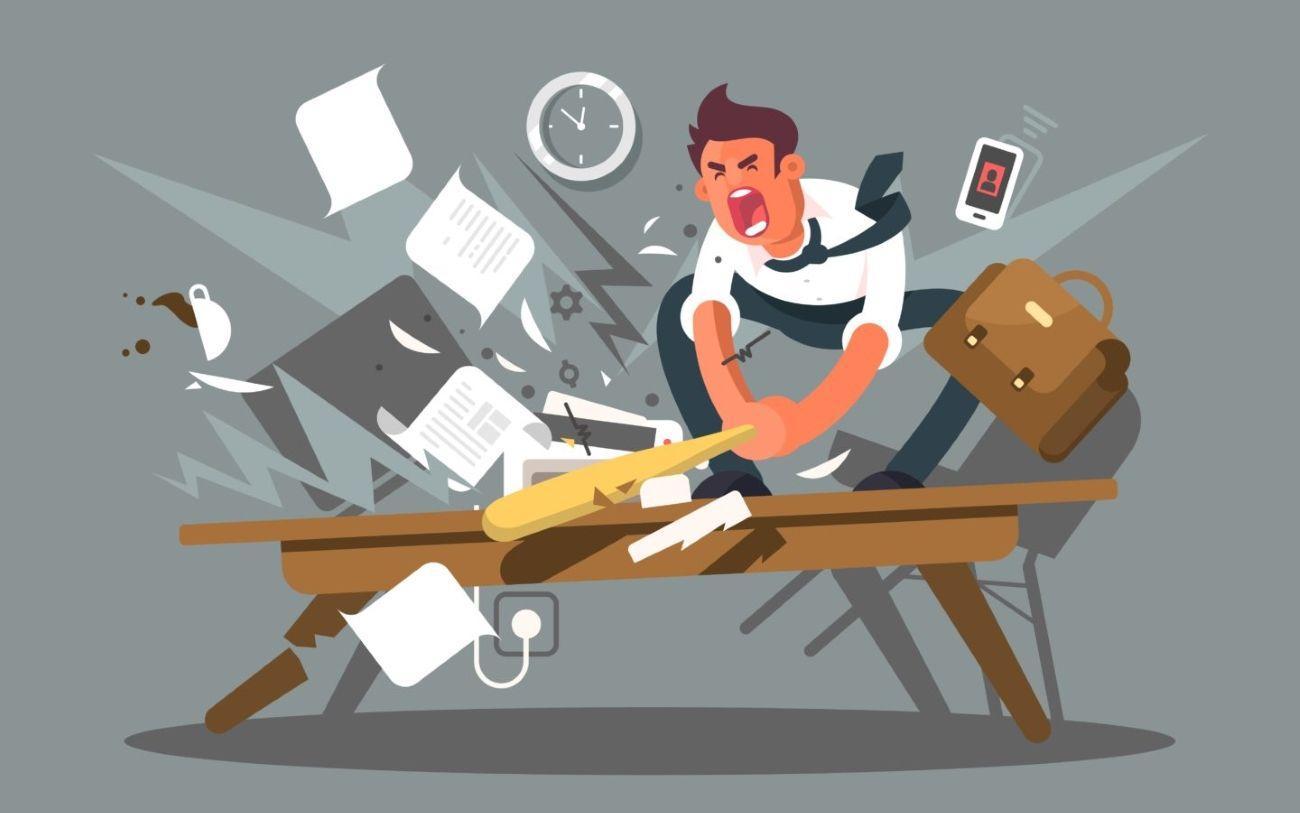 Работа - частая причина депрессии и тревожности