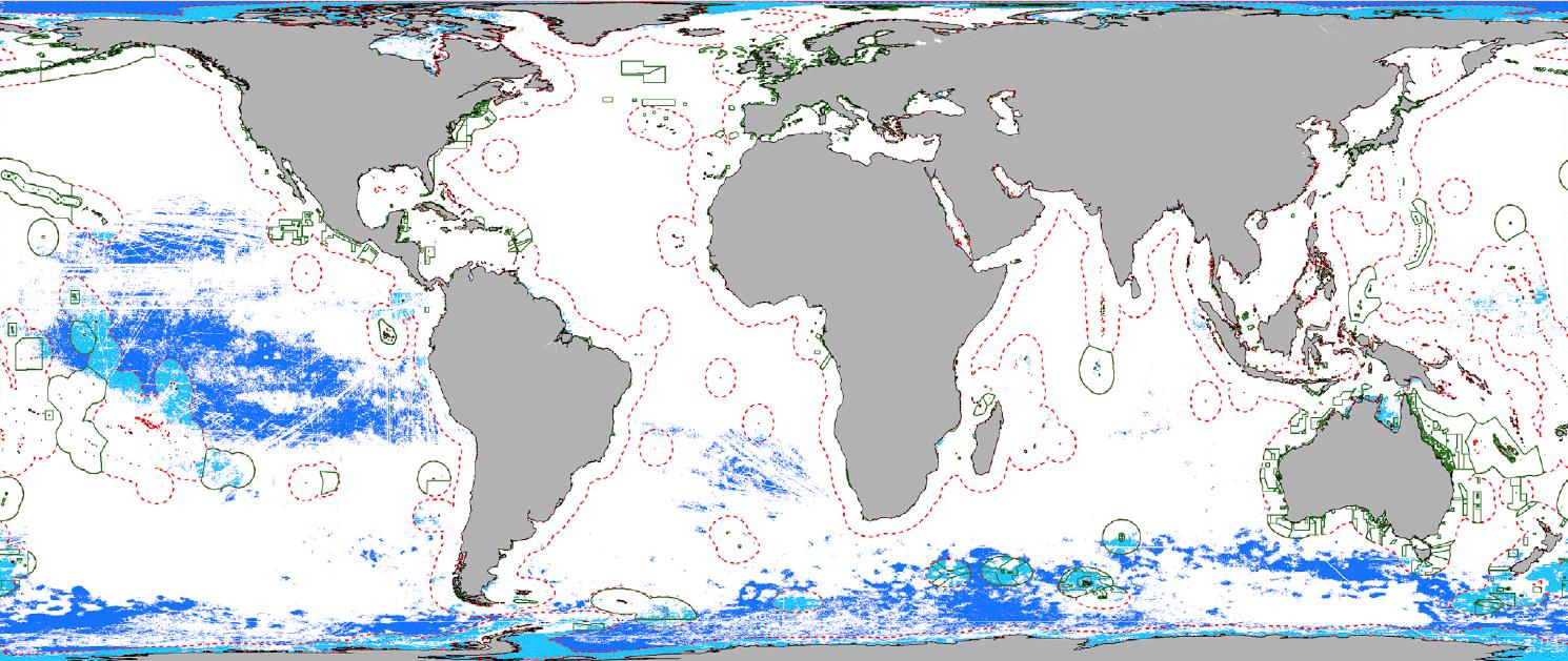 Человек не повлиял лишь на 13 процентов Мирового океана
