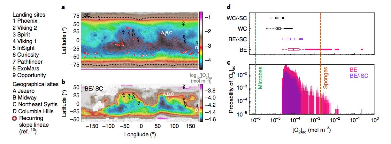 В марсианской воде нашли достаточно кислорода для бактерий
