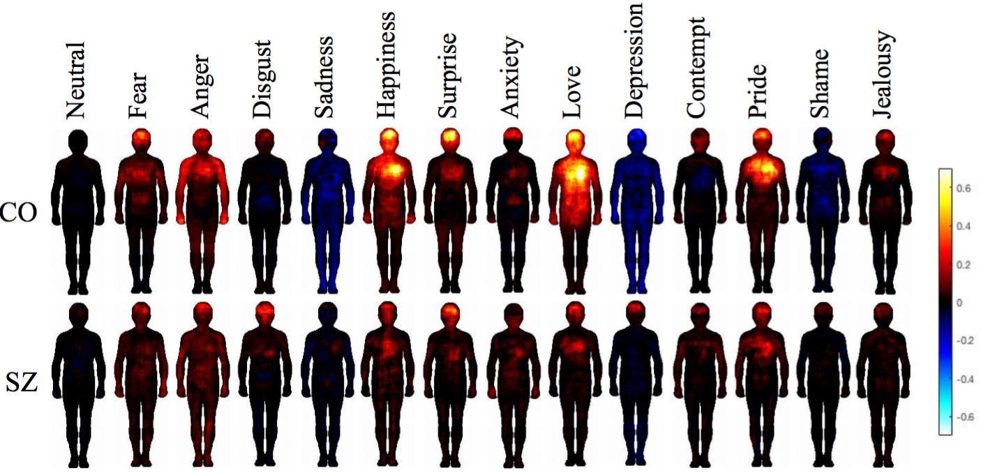 Ученые составили карту телесных эмоциональных ощущений людей с шизофренией
