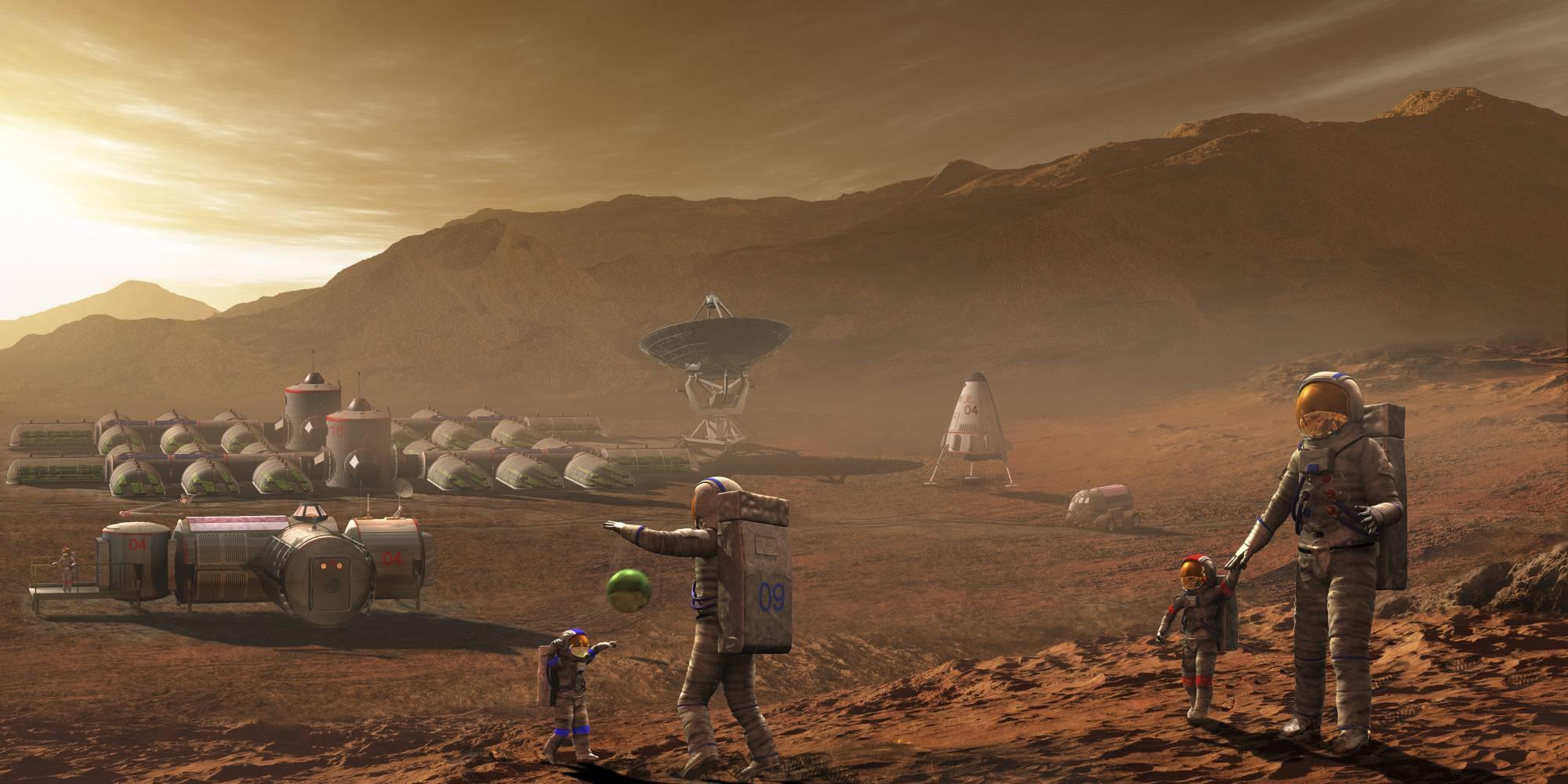 Ученые предлагают отправить земных микробов колонизировать Марс для людей