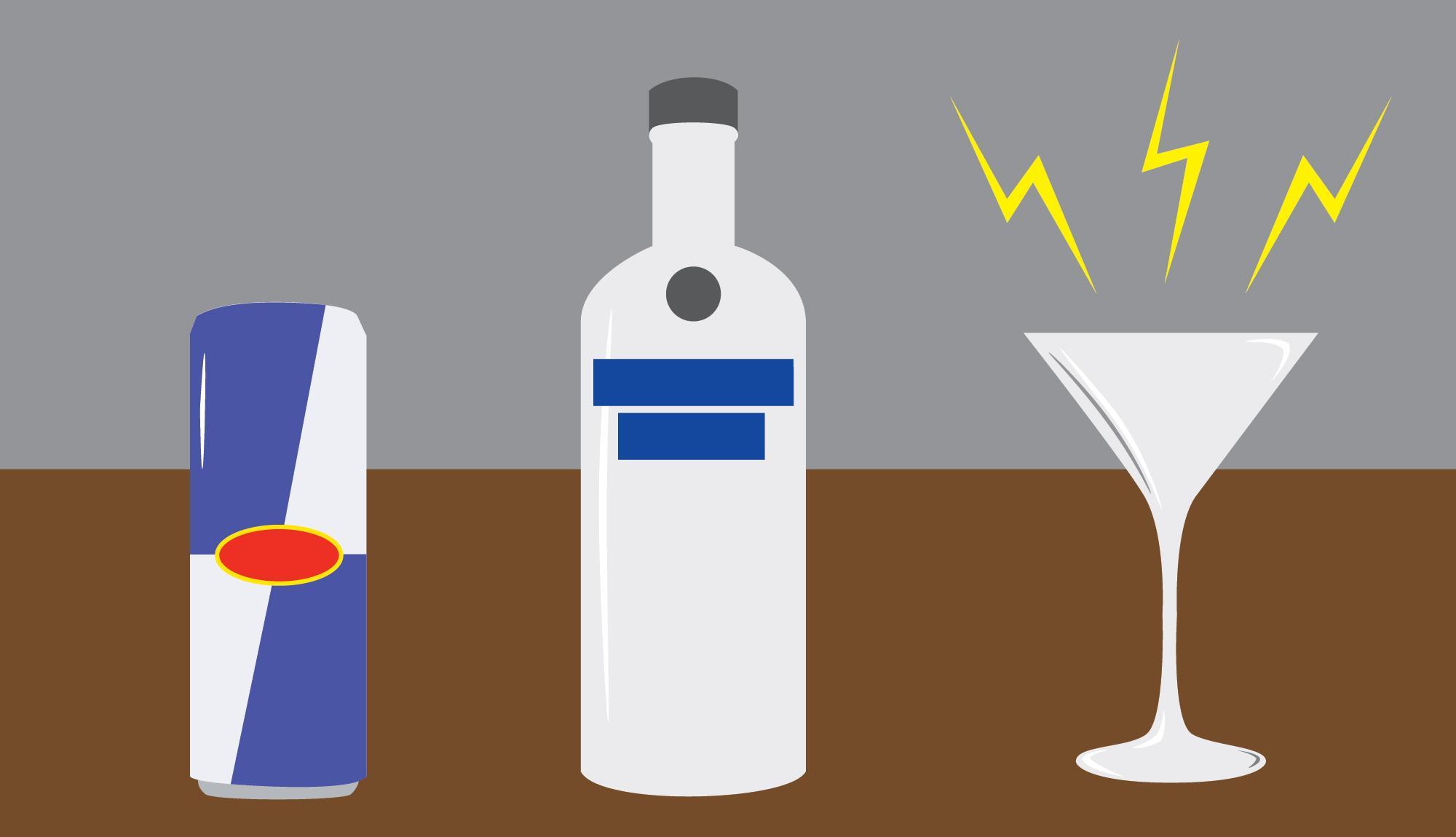 Энергетики и алкоголь: кажущееся «добавочное» опьянение