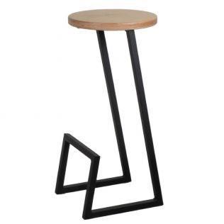 polubarniy stul 9 9005 cherniy 61436117 - Качественные металлические стулья - лучший вариант для современного интерьера