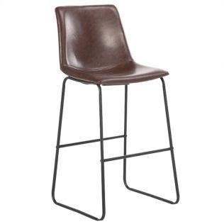 polubarniy stul state h shokoladniy 10436226 - Качественные металлические стулья - лучший вариант для современного интерьера