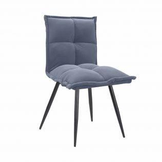stul n 130 seryi velvet 23439814 - Качественные металлические стулья - лучший вариант для современного интерьера