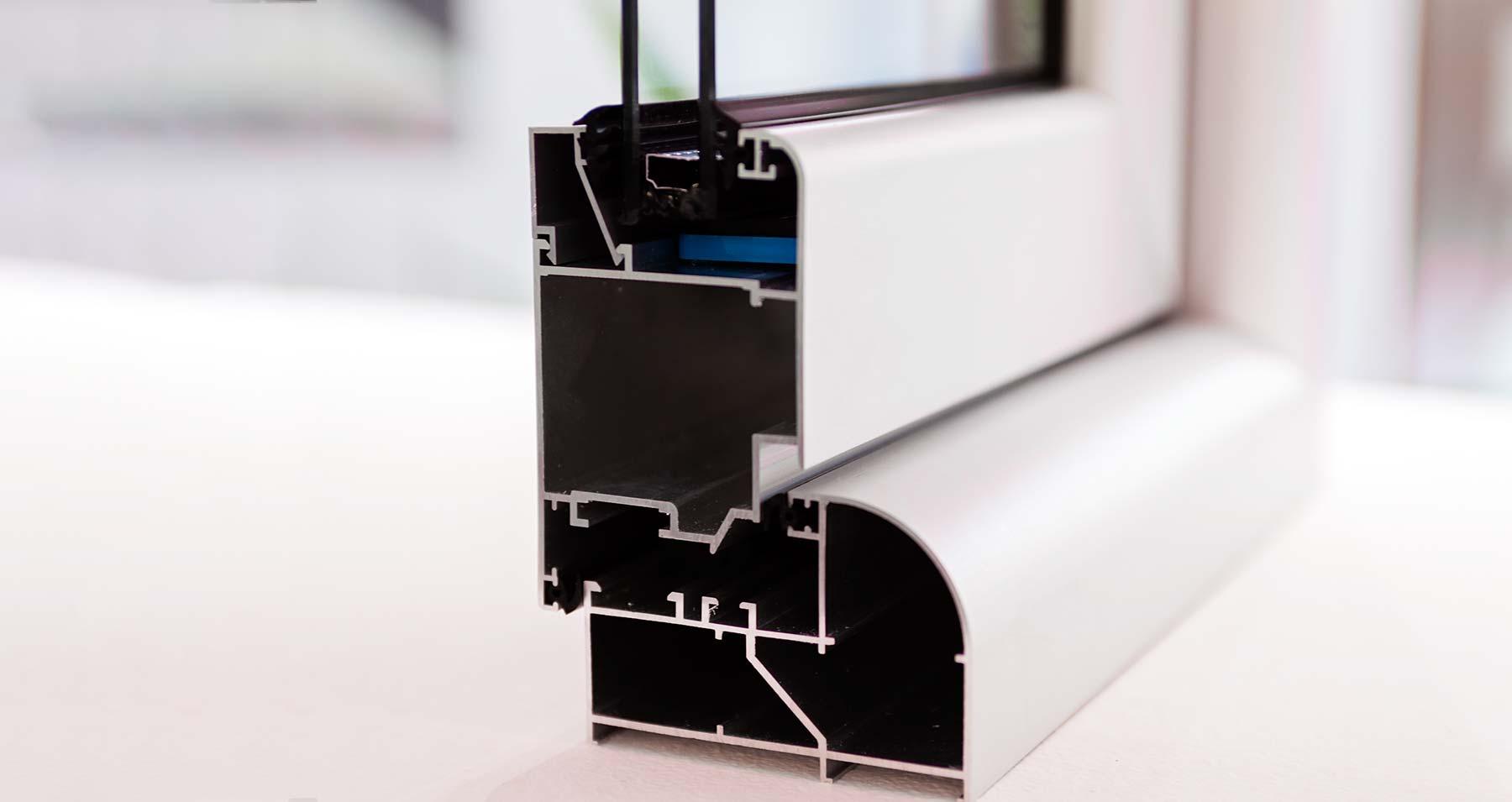 Теплый алюминиевый профиль с терморазрывом