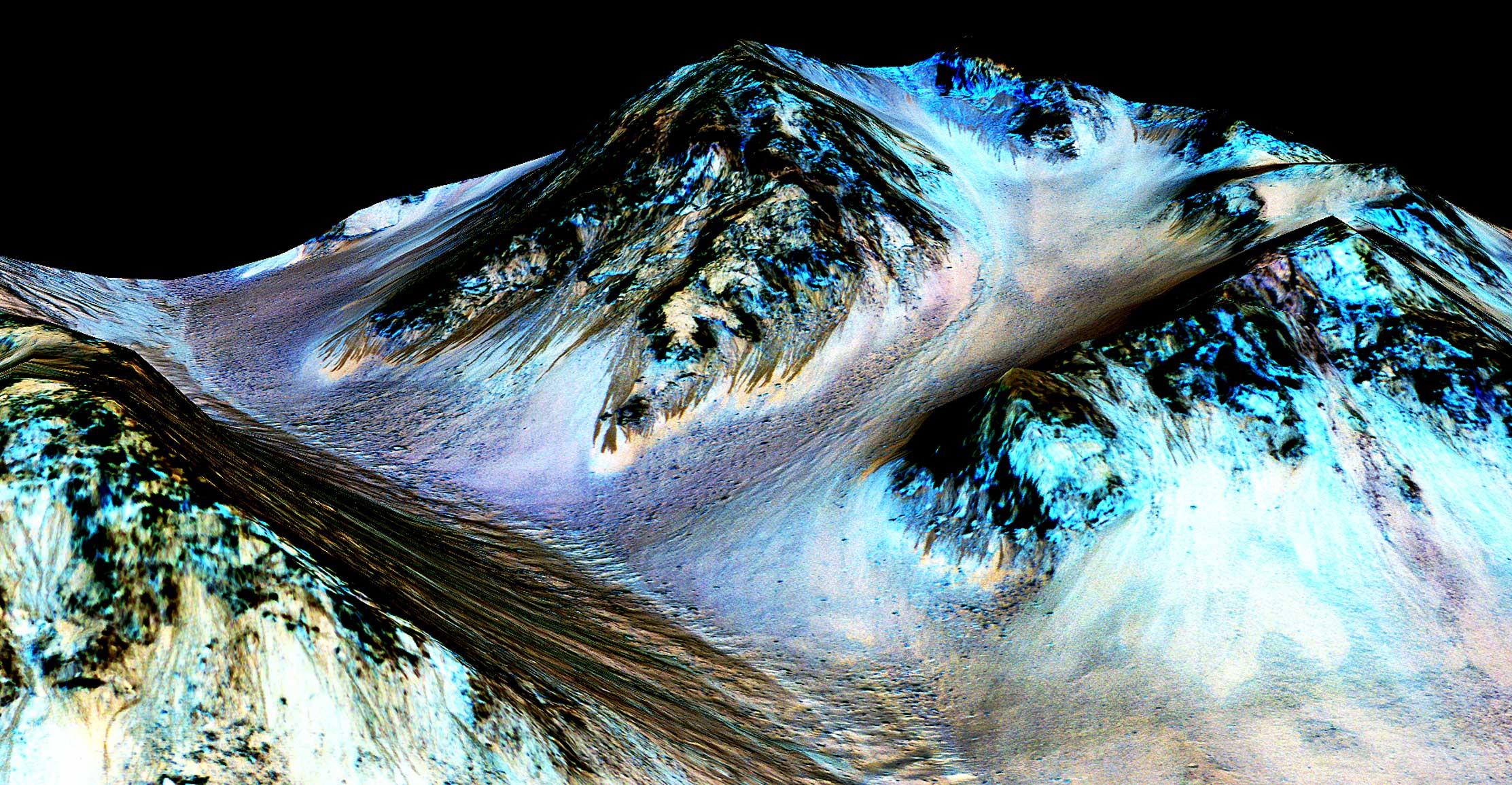 Вода на Марсе: очень холодная и очень солёная, для жизни не годится
