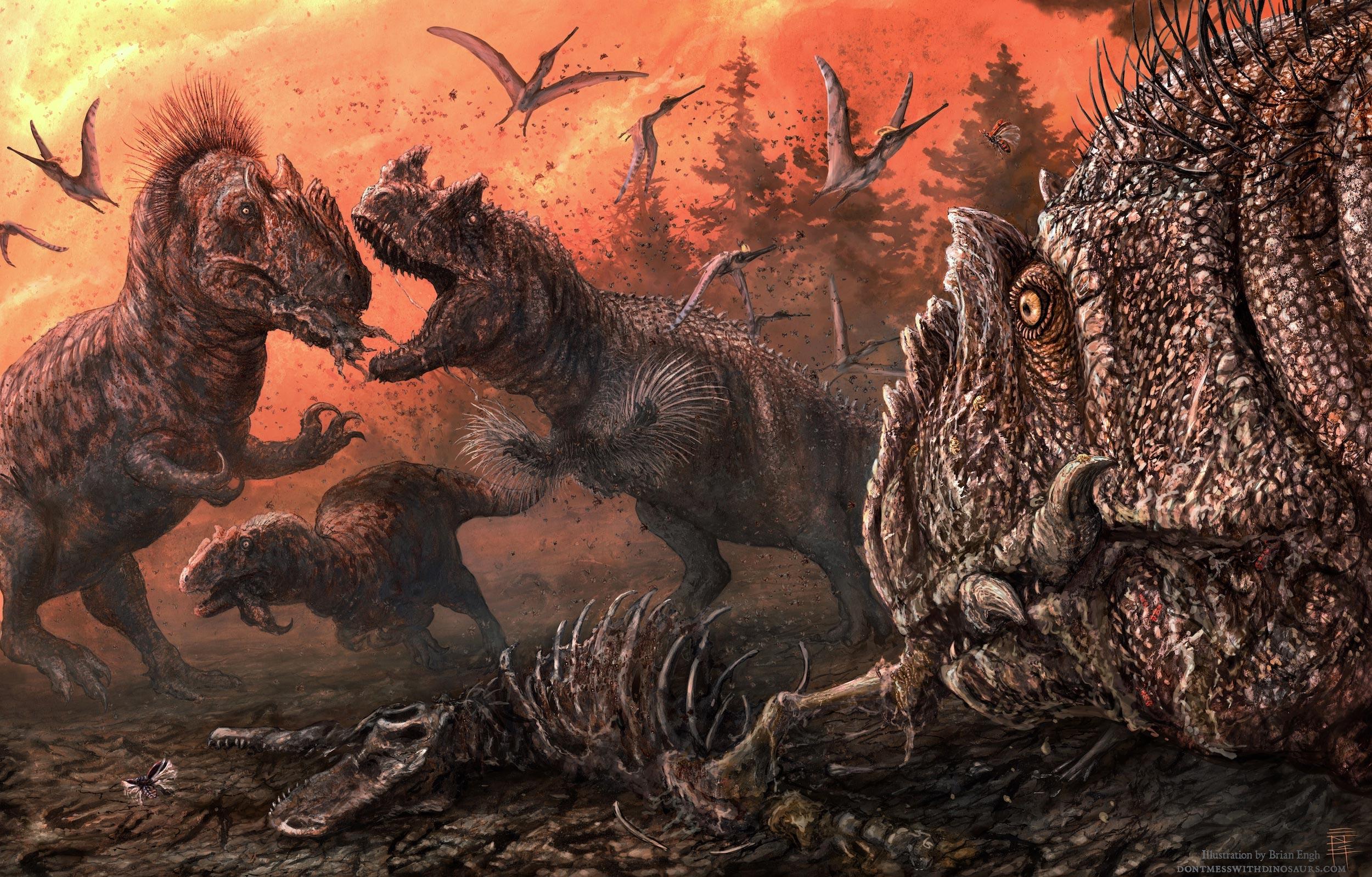 Найдены свидетельства массового каннибализма у динозавров