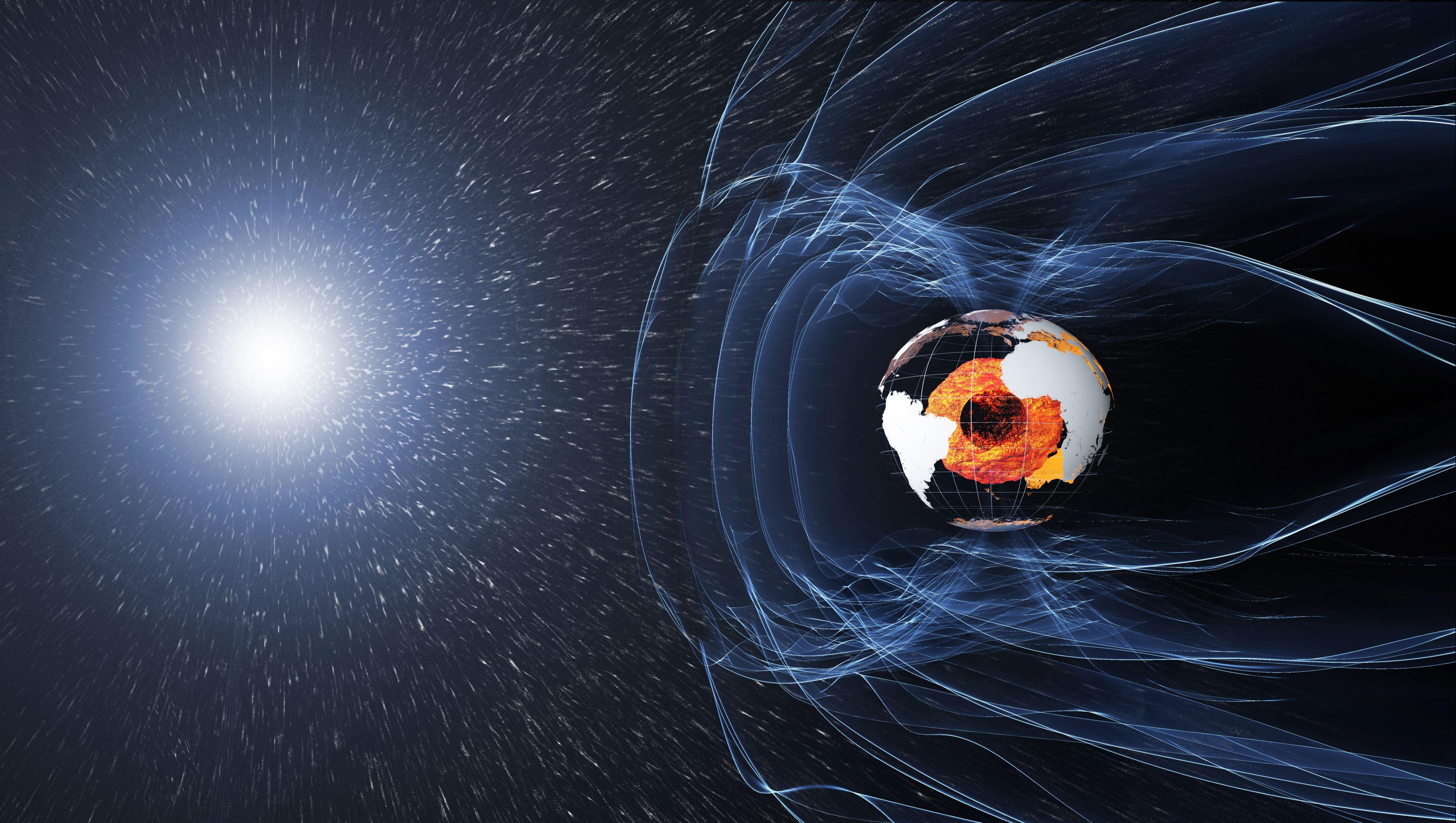 Южно-Атлантическая магнитная аномалия: ослабление магнитного поля Земли пока мешает спутникам, но может предвещать будущий переворот полюсов
