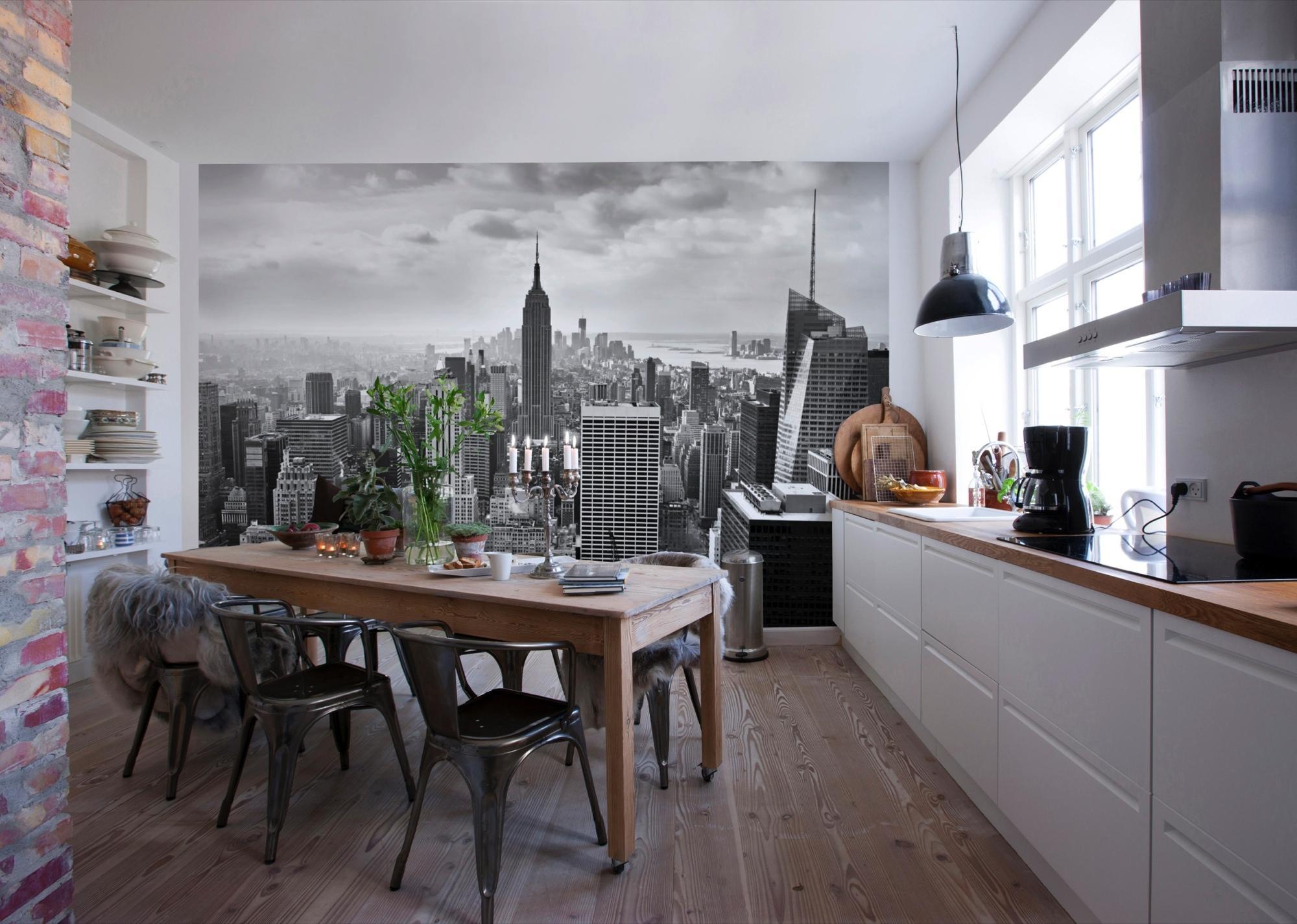 8 выгодных преимуществ фотообоев для кухни