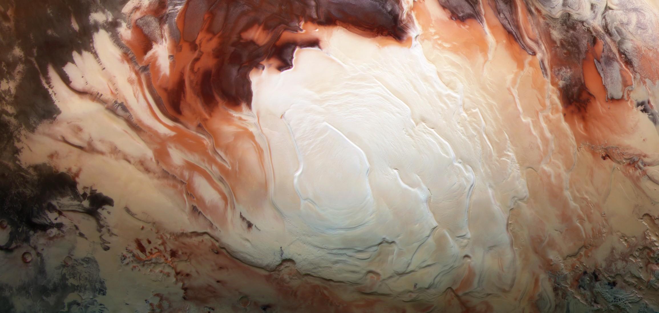 Сеть «озёр» на Марсе