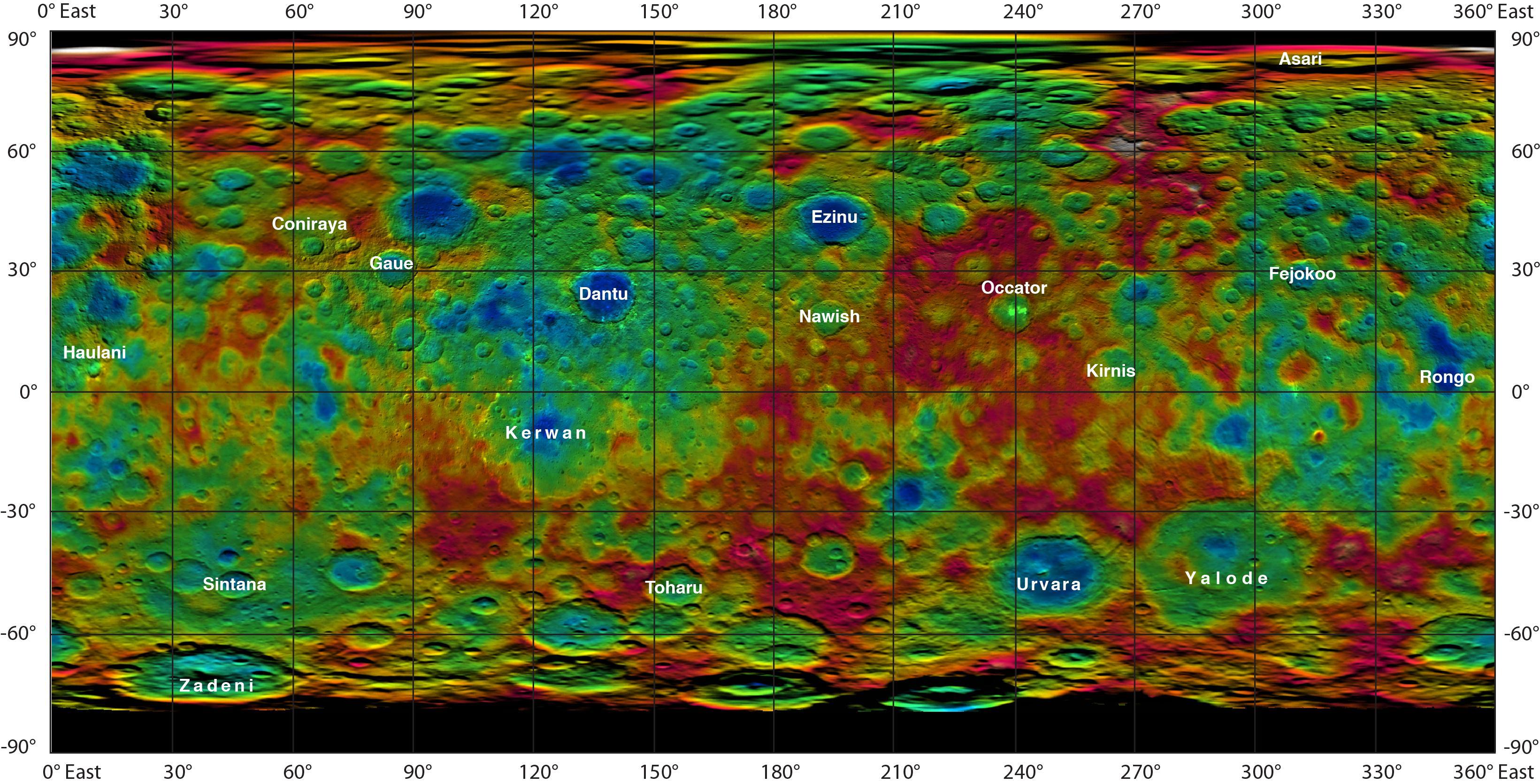 Геология Цереры: ещё один соляной океан в Солнечной системе
