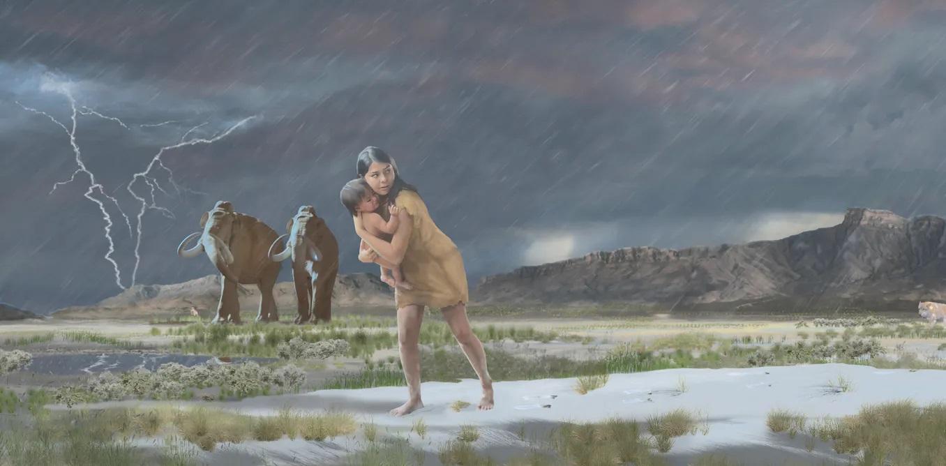 С ребёнком мимо мамонтов: куда спешила древняя американка