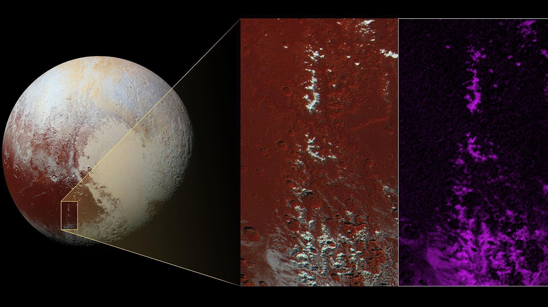 Метановый снег на Плутоне