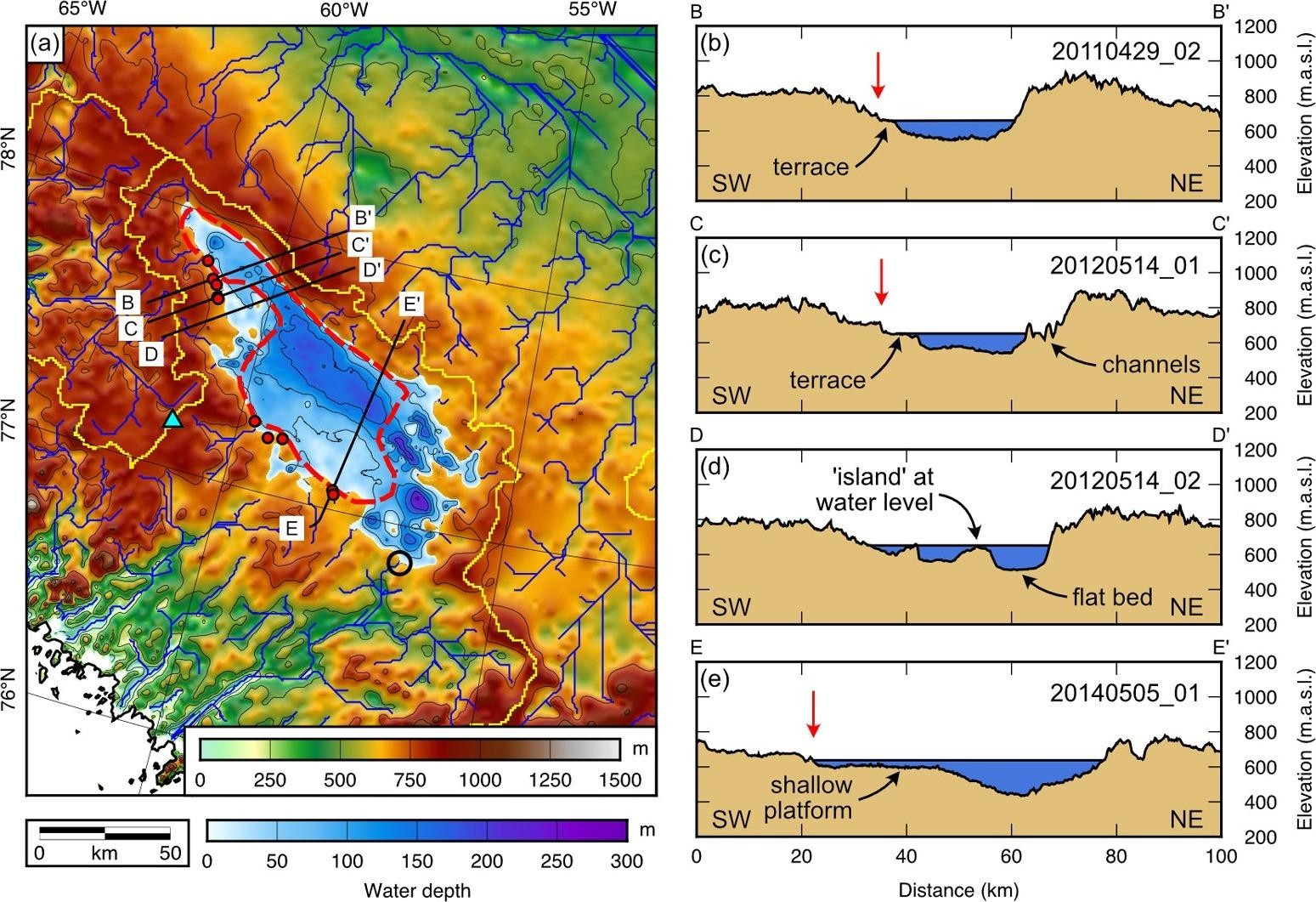 Подо льдами Гренландии обнаружили бассейн древнего озера