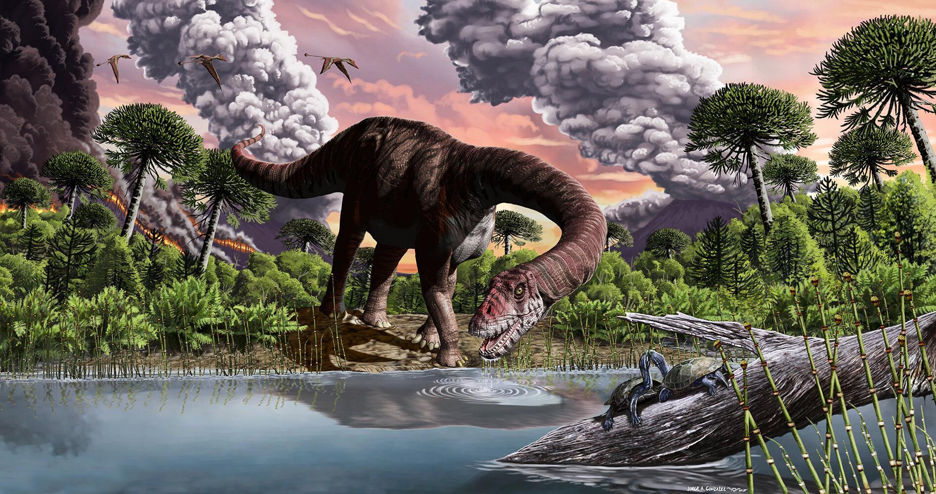 Гигантские динозавры смогли развиться благодаря глобальному потеплению