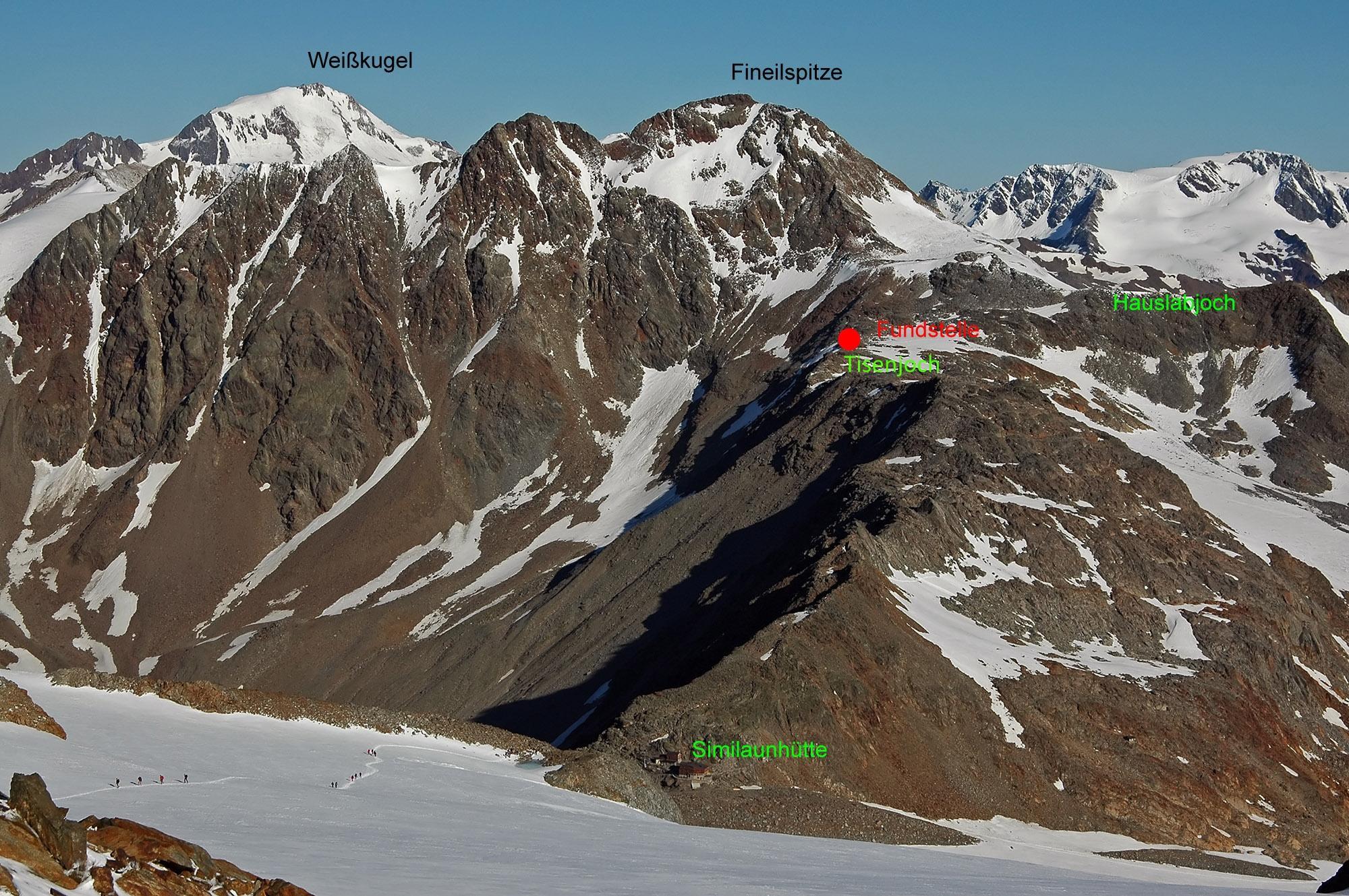 Во времена ледяного человека Этци часть альпийских вершин, возможно, была свободна ото льда