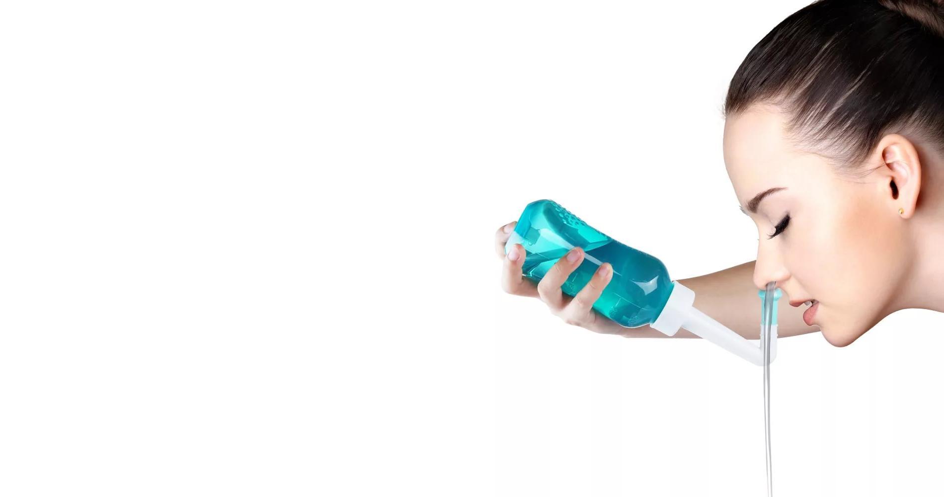 Промывание носа при гайморите: какой способ используется