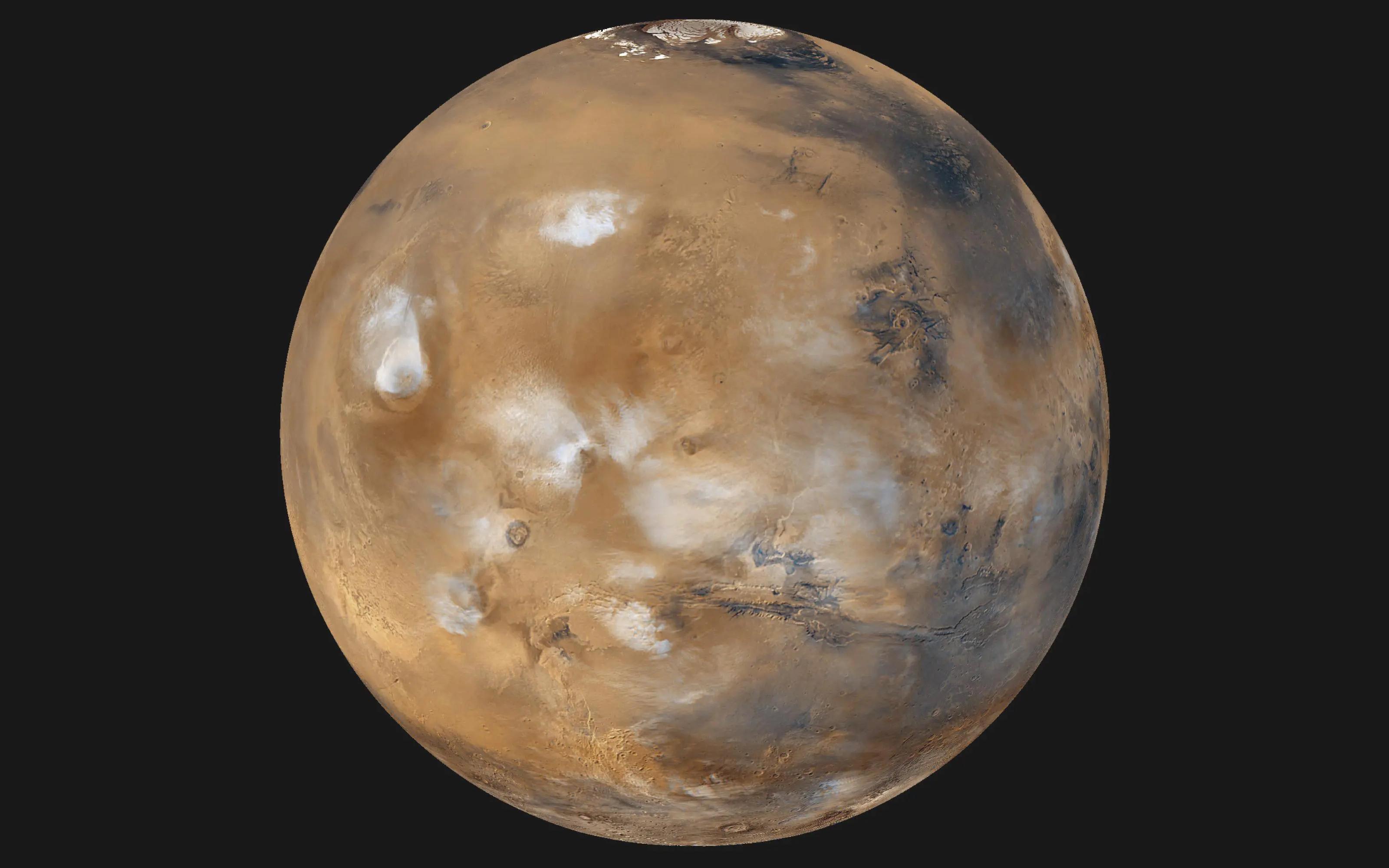 Ледяные облака согревали Марс в древности