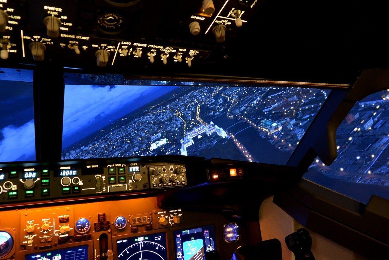 Полет на авиатренажере