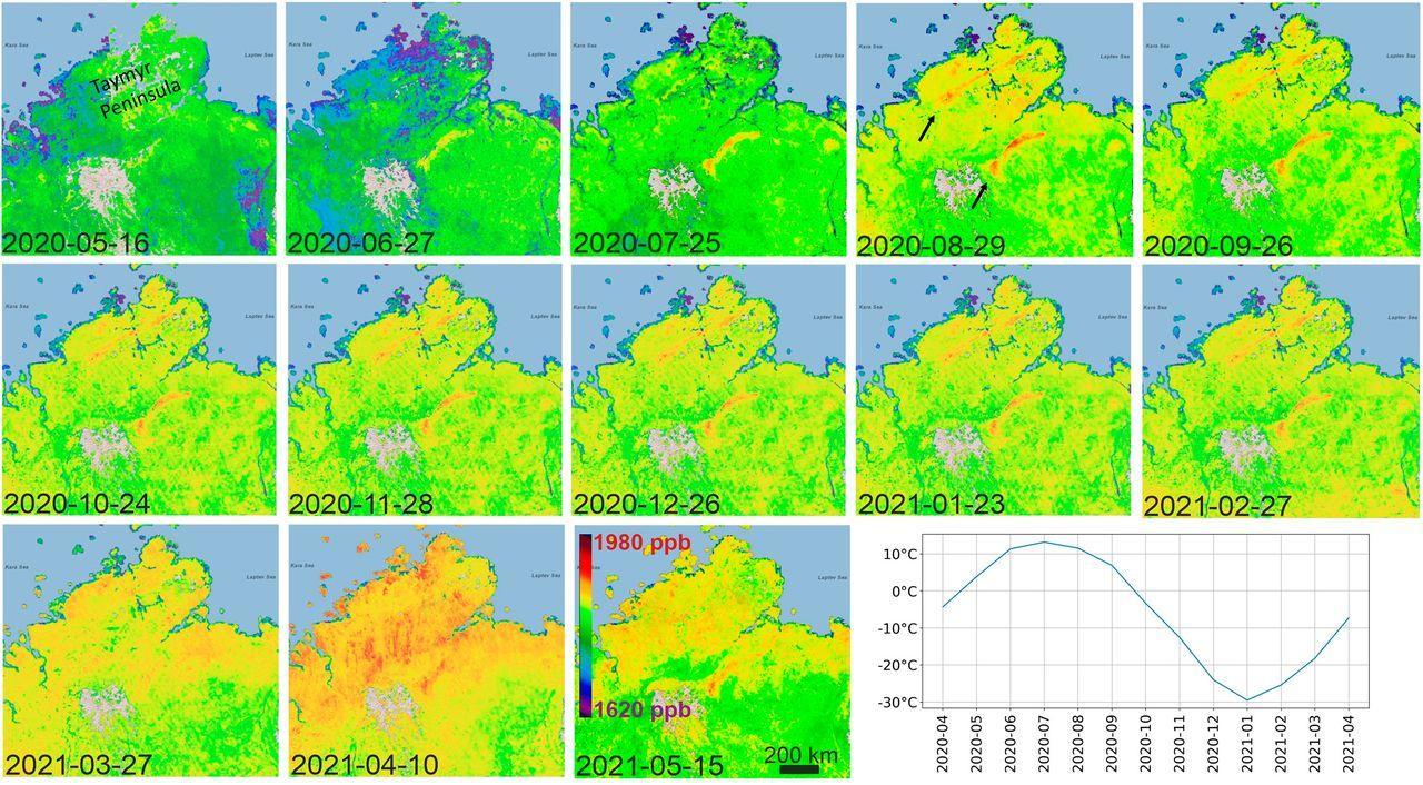 Таяние многолетней мерзлоты оказалось причиной выбросов древнего термогенного метана