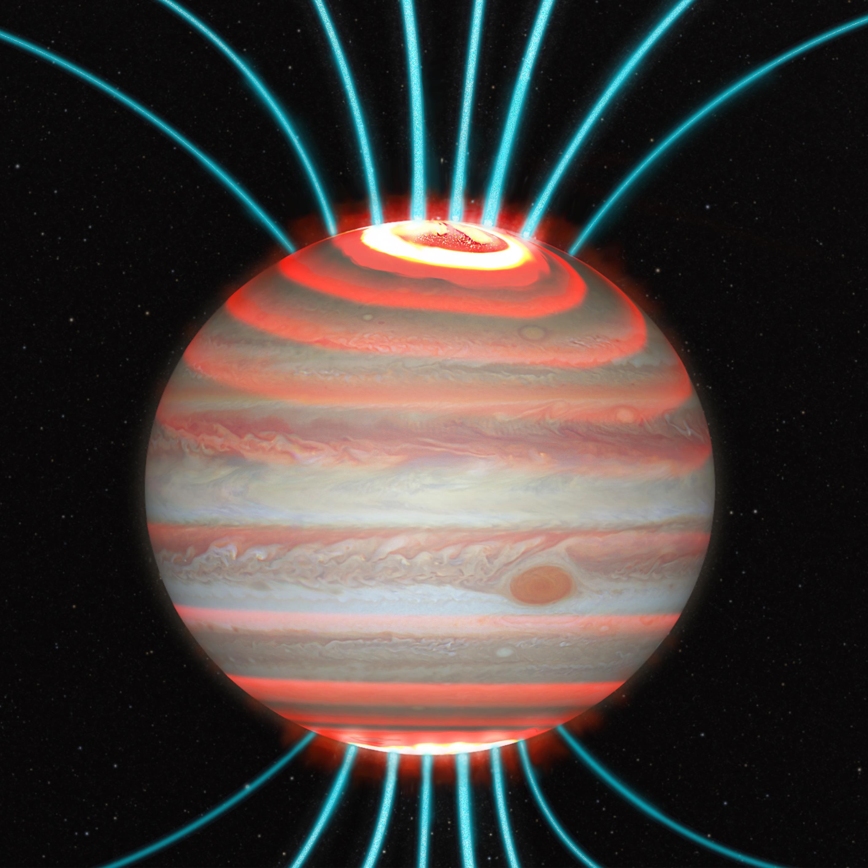 Новые наблюдения разрешили «энергетический кризис» атмосферы Юпитера