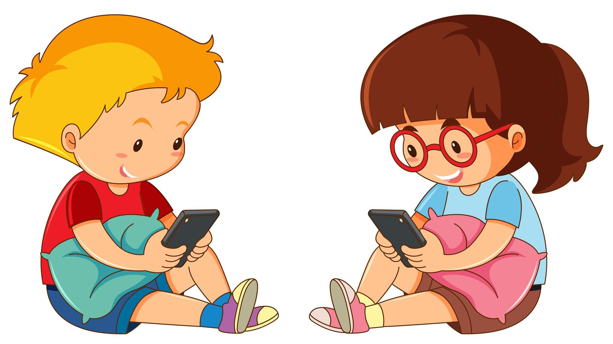 Чем больше времени дети проводят у экрана смартфона, тем больше у них друзей