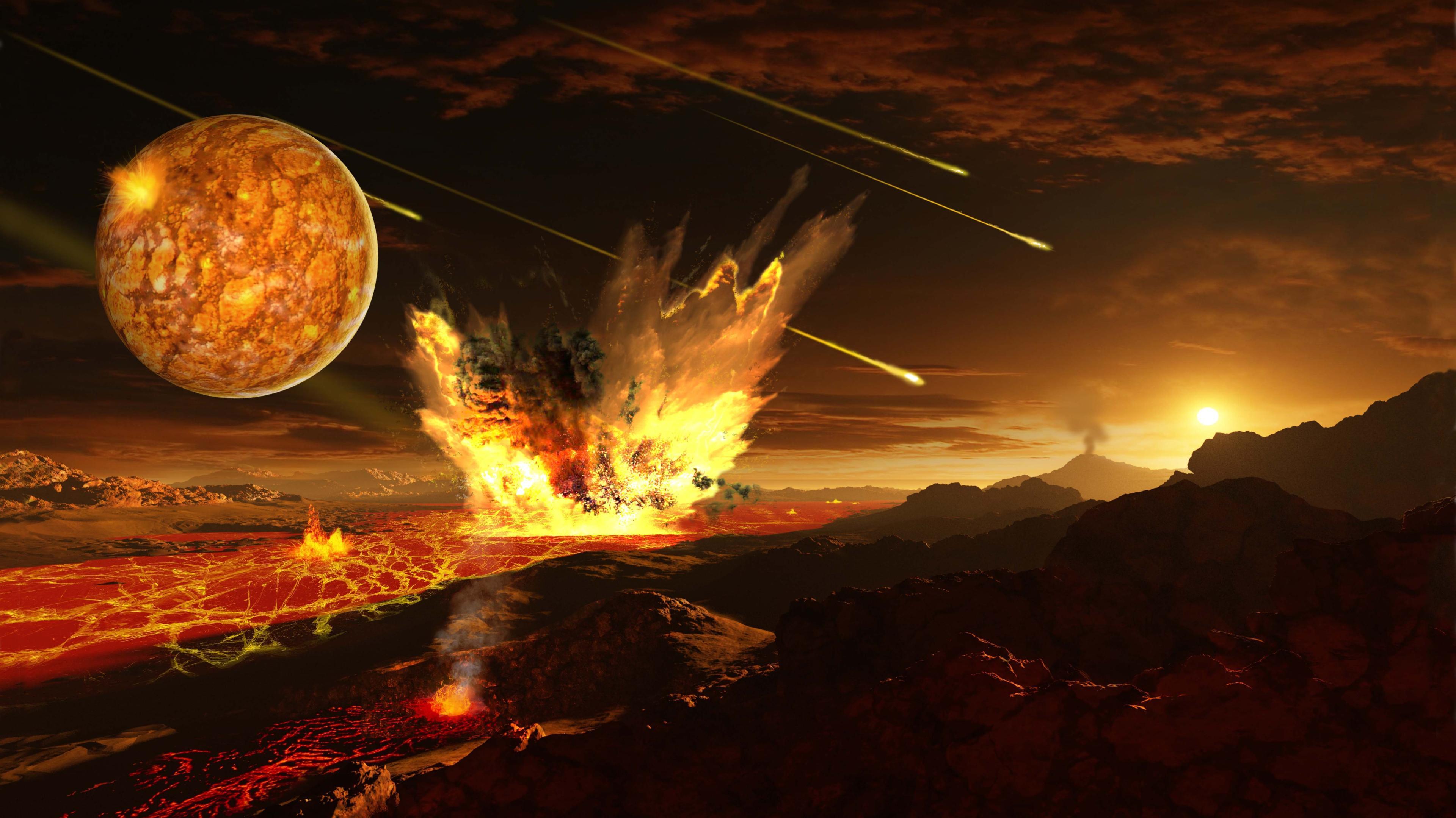 Отсутствие следов ранних метеоритных бомбардировок на Луне объяснили ее медленным остыванием