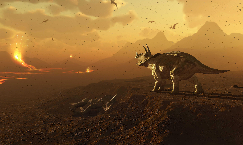 Плавность вулканических извержений помогла динозаврам завоевать мир