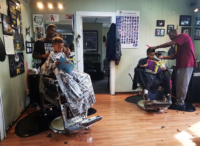 Забавная акция в парикмахерской Мичигана
